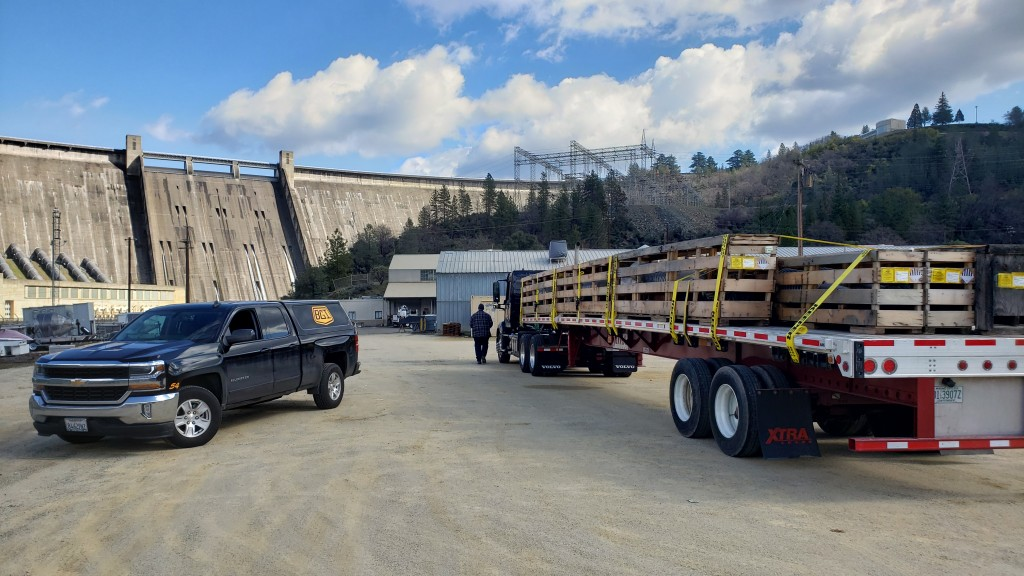 Shasta Dam Flatbed Shipment